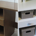 Egy divatjamúlt, régi íróasztal új köntösben - Laminált bútorlap festése egyszerűen