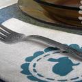 Saját készítésű asztali textilszett húsvéti díszítéssel