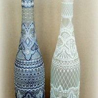 Borosüvegek festése gyönyörű mintákkal