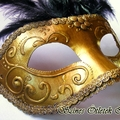 Aranyló velencei stílusú szemmaszk