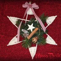 Karácsonyi fonott csillag peddignádból