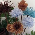 Őszi dekoráció - Kreppvirágok, nem csak türelmeseknek