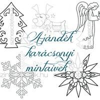 Ajándék letölthető karácsonyi mintaívek