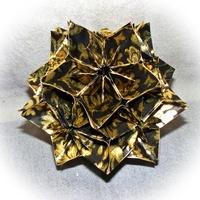 Kusudama technika - csodálatos csillaggömb papírból