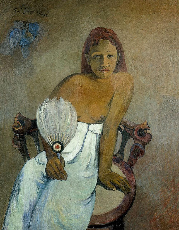 Lány legyezővel, 1902