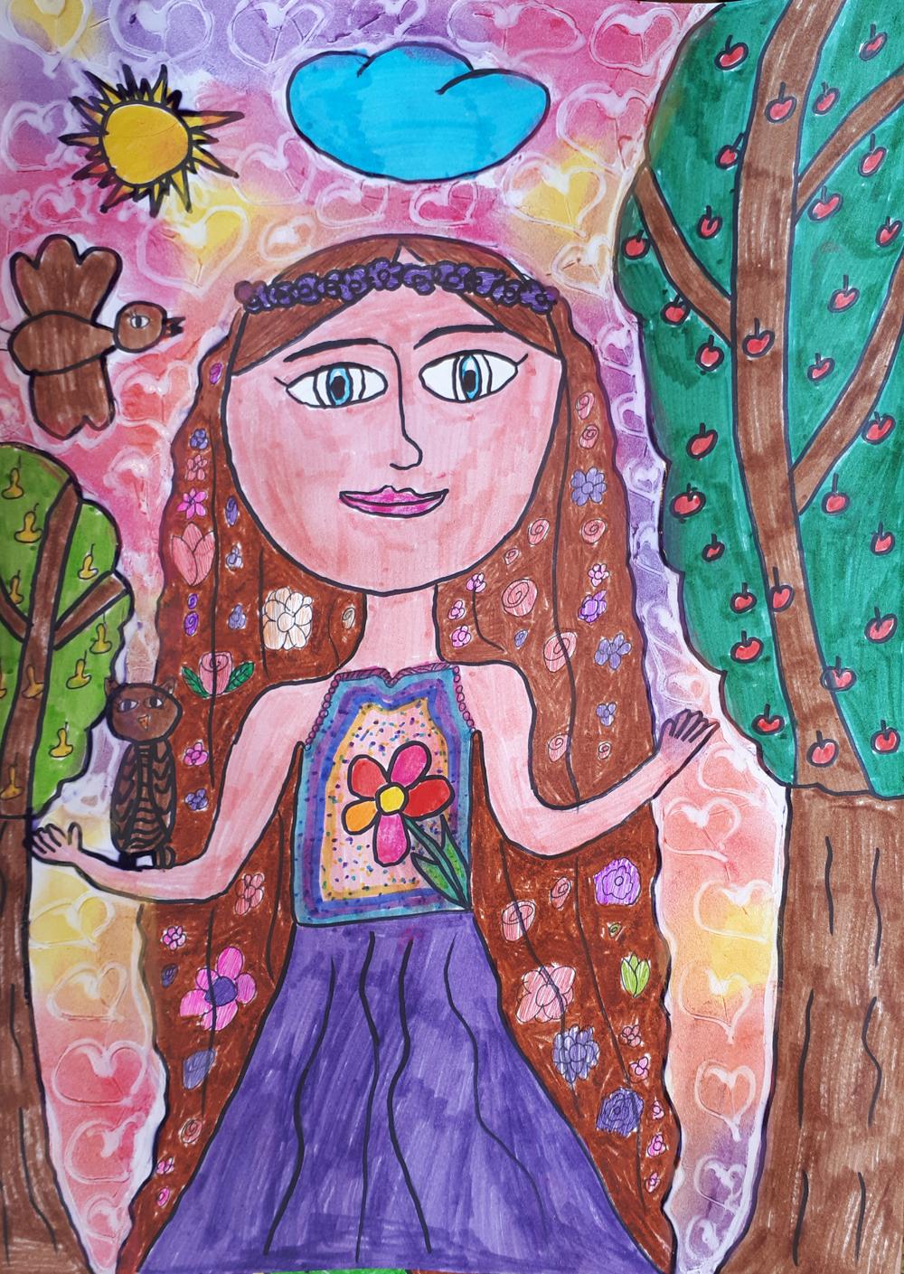 Vetési Tamara, 9 éves