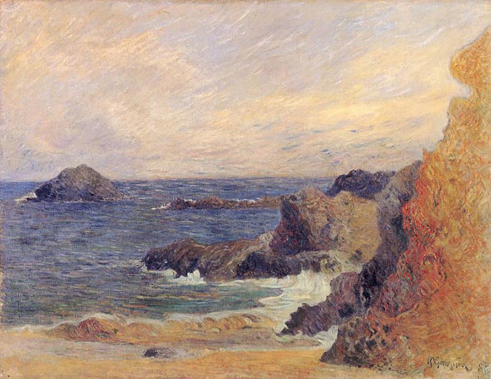 Sziklás tengerpart, 1886