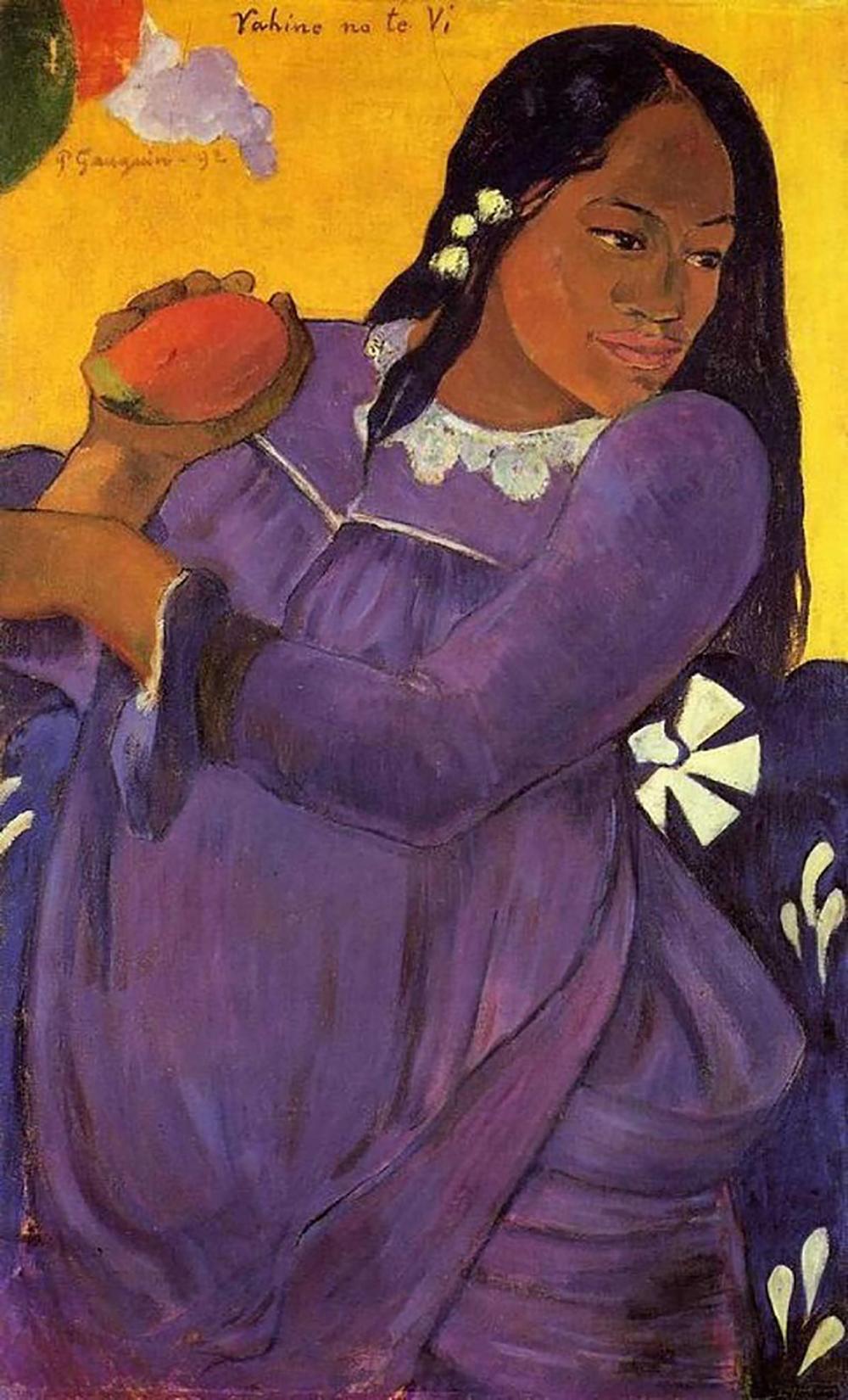 Tahiti nő mangóval, 1892