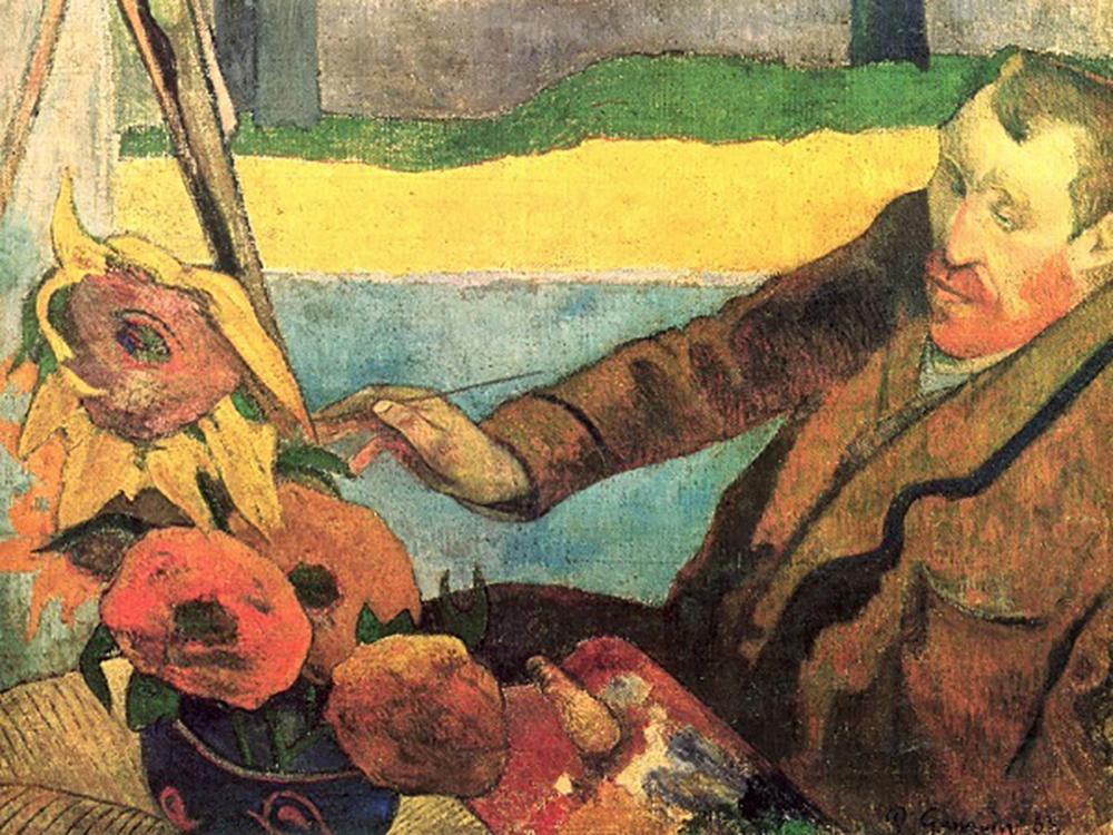 Van Gogh napraforgókat fest, 1888
