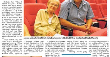 Törőcsik Mari 40 év után a Saul fia kedvéért ült moziba