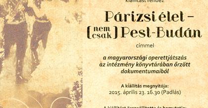 A magyar operettjátszásról nyílik kiállítás az SZFE-n