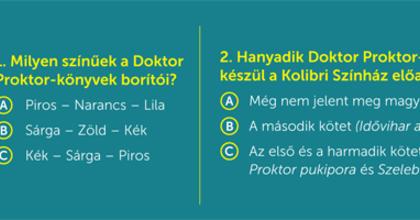 Doktor Proktor és a holdkaméleonok a Kolibri Színházban