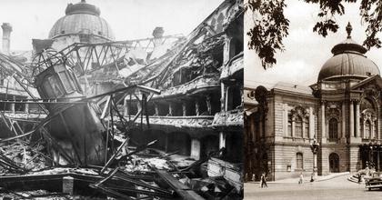 A nap fotója – A Vígszínház romokban és újjáépítve