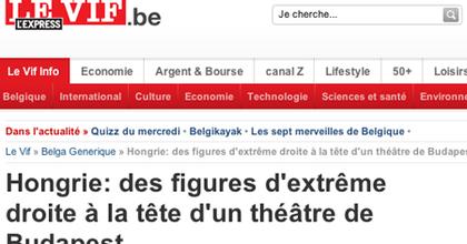Külföldi lapok szélsőjobbos színházról cikkeznek