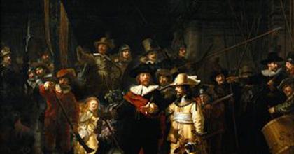 Megelevenedett Rembrandt Éjjeli őrjárata