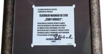 Kiválósági díj a Csiky Gergely Színháznak