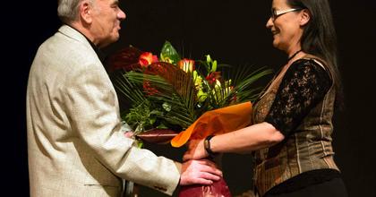 A 80 éves Kóti Árpádot köszöntötték a Csokonai Színházban