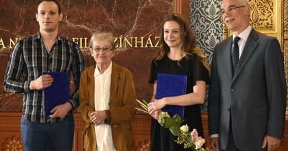Fiatal színésznövendékeknek adták át a Törőcsik Mari-ösztöndíjat