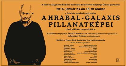Hrabal-kiállítás érkezik a Móricz Zsigmond Színházba