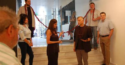 Felavatták az Örkény Színház megújult bejáratát