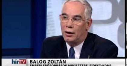 Balog Zoltán eltörölné a függetlenek állami támogatását