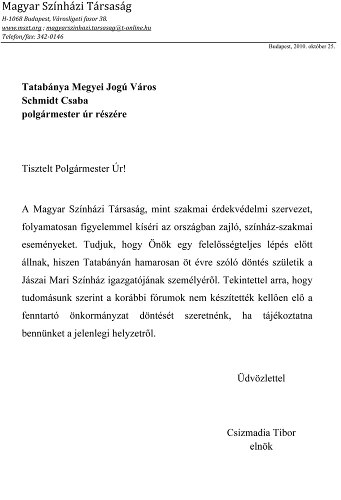 SchmidtCsabaPolgarmesterurTatabanya