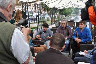 EVADNYITO sajtotajekoztato Marosvasarhelyi Nemzeti Szinhaz foto 02