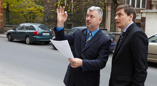 Szogi Csaba a Bethlen Teri Szinhaz muveszeti igazgatoja es Vattamany Zsolt Erzsebetvaros polgarmestere foto Dusa Gabor