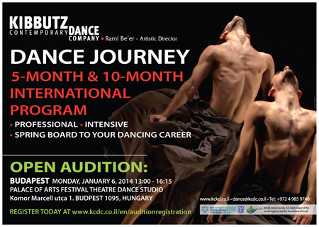 Dance Journey Audition Poster - January 2014