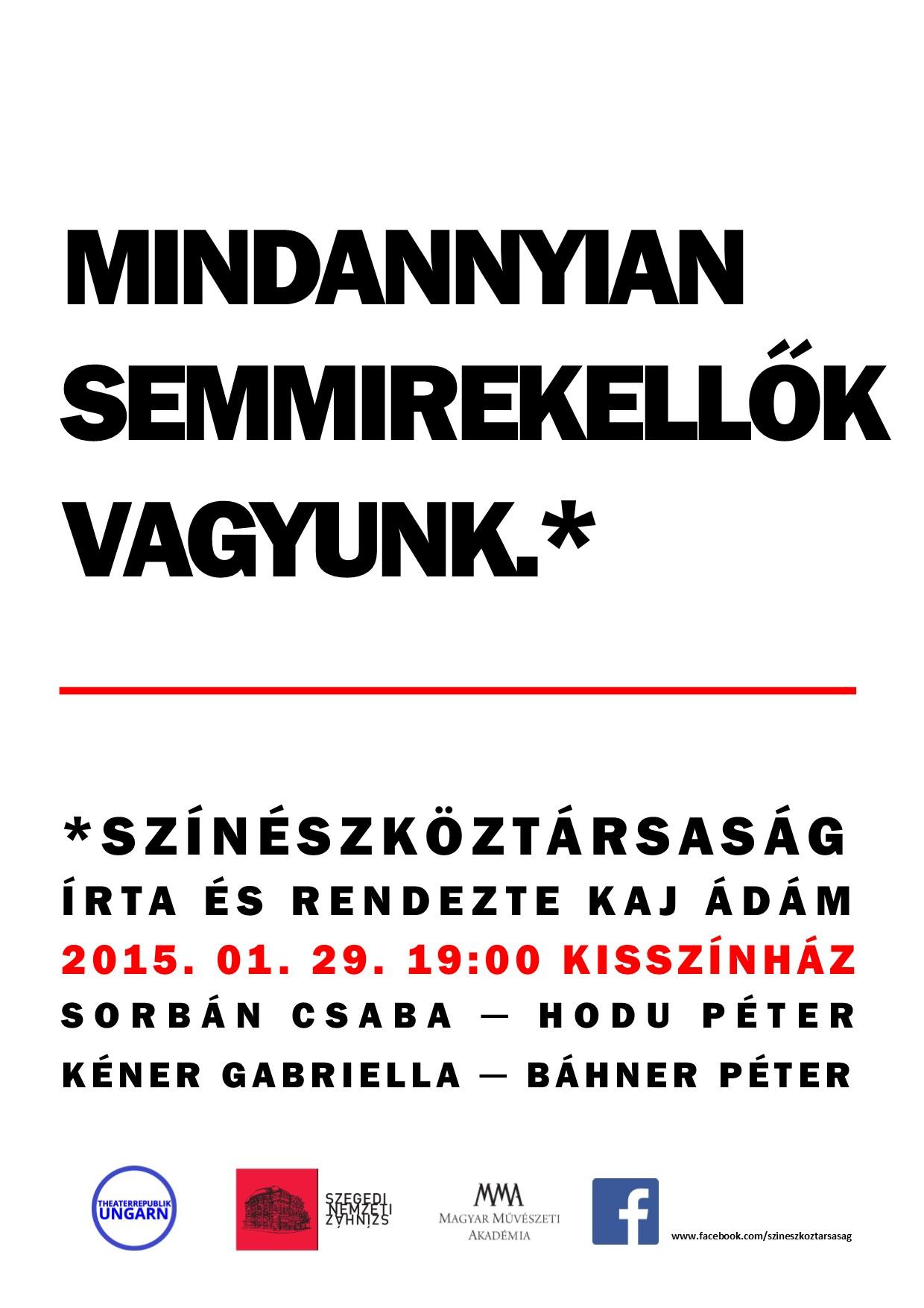 Színészköztársaság plakát