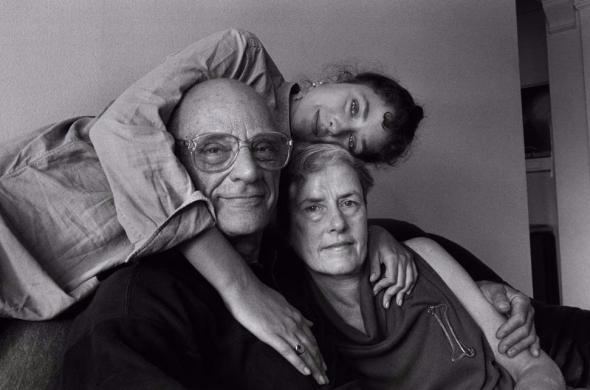 Arthur Miller  Inge Morath with their daughter Rebecca