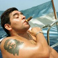 Sztárok akik szivaroznak - Diego Maradona