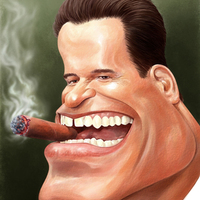 Arnold Schwarzenegger karikatúrák