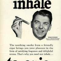 Ronald Reagan szivar plakátja