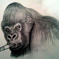 Gorillák akik Szivaroznak