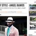 Angel Ramos szivarozik - Bespoke férfi divat szivarral