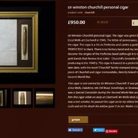 Eladó sir Winston Churchill szivarja