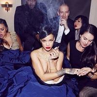 Rihanna Szivarozik Dohányzik Füstöl