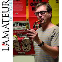 Stephane Charbonnier - A Charlie Hebdo meggyilkolt főszerkesztője Szivarral