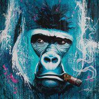 Cigar Monkeys - Szivarozó Majom festmények