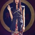 Kailey Hsu a gyönyörű modell Szivarral