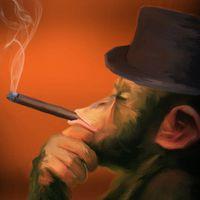 Cigar Monkeys - Szivarozó Majmok festmények