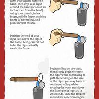 Hogyan kell meggyújtani egy szivart?