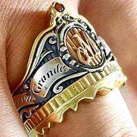Férfi Pecsétgyűrűk - Szivarmárkák Emblémáival