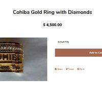 Cohiba Arany Gyűrű Gyémántokkal