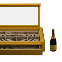 Veuve Clicquot színű Vertigo asztali humidor a Maklary Humidorstól