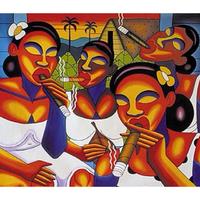 Női Szivarklub - Festményen