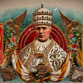 X. Szent Pius Pápa Szivardobozon és Szivargyűrűkön ábrázolva
