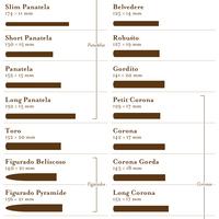 A szivarok elnevezése méretük alapján