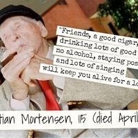Majdnem 116 éves koráig szivarozott a dán Christian Mortensen